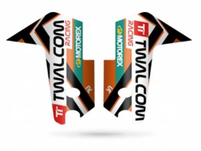 TT® - Stickerset voorvork protectie White/Orange KTM1090/1190/1290ADV-R