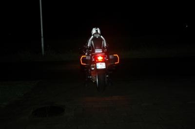 In donker, met met licht aanstraling