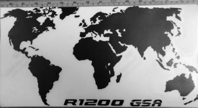 Zwart, wit reflecterend, uitgesenden, met toevoeging R1200 GSA