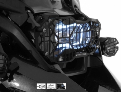 Koplamp PROTECTOR Touratech R1200GS LC Zwart