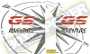 Wereldkaart kompas stickers zijkoffers GSA LC set