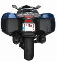 Reflectie stickers BMW K1600/R1200RT LC achterzijde koffers
