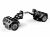 TT® set (L+R) halogeen mist lampen + BMW schakelmateriaal R1200GS 08-12 Zwart